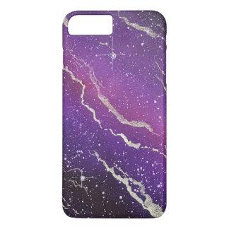 Caja púrpura del iPhone de la galaxia del espacio Funda iPhone 7 Plus