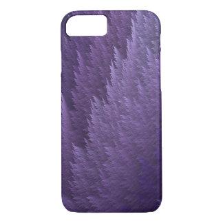 Caja púrpura del modelo de la pluma del tartán de funda iPhone 7