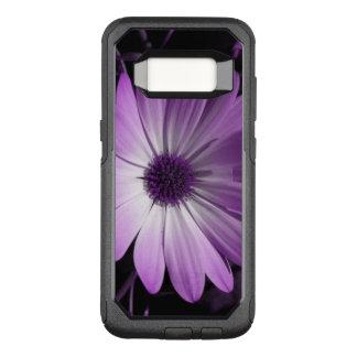 Caja púrpura del teléfono de la flor de la funda otterbox commuter para samsung galaxy s8