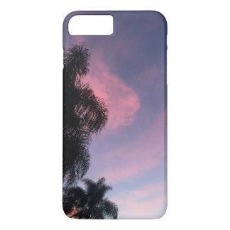 Caja púrpura del teléfono de la puesta del sol funda para iPhone 8 plus/7 plus