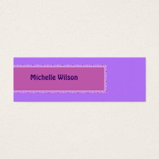 Caja púrpura en colores pastel de la MOD del rosa Tarjeta De Visita Pequeña