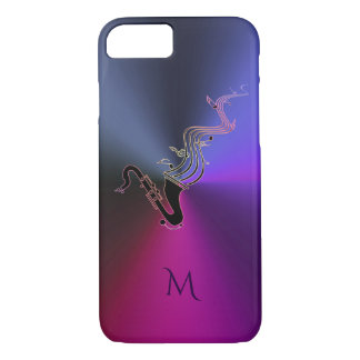 Caja púrpura metálica del iPhone 7 del saxofón del Funda iPhone 7