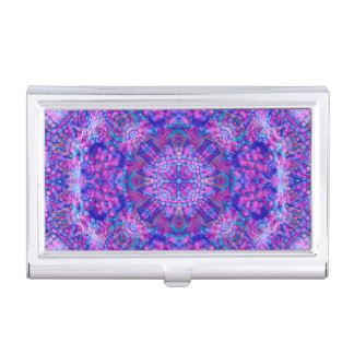 Caja púrpura y azul   de la tarjeta de visita del