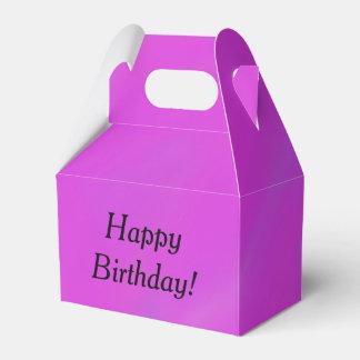 Caja púrpura y rosada del texto de la plantilla caja para regalos