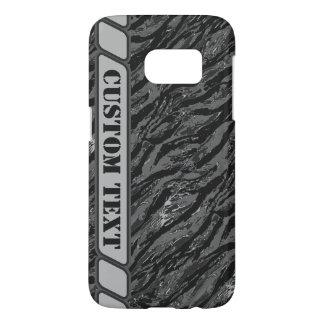 Caja rayada gris urbana del teléfono de Camo con Funda Samsung Galaxy S7
