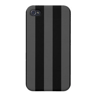 Caja rayada negra y gris del iPhone 4 iPhone 4 Carcasa