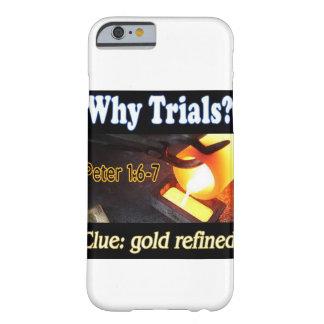 Caja refinada oro del teléfono funda barely there iPhone 6