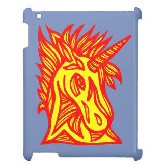 """Caja roja amarilla del iPad del """"unicornio"""""""