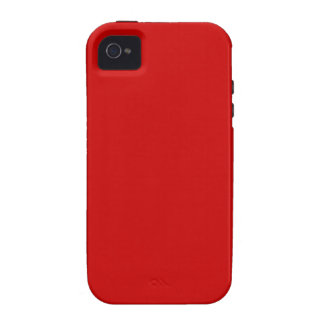 Caja roja brillante de la casamata del iPhone 4/4S Vibe iPhone 4 Carcasa