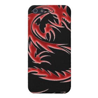 Caja roja de iPod del dragón iPhone 5 Cárcasa