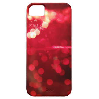 Caja roja del iPhone 5 del encanto del purpurina Funda Para iPhone SE/5/5s