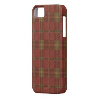 Caja roja del iPhone 5G de la tela escocesa iPhone 5 Case-Mate Cárcasa
