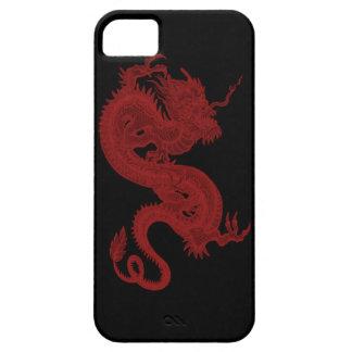 Caja roja del iPhone 5G de Pendragon del dragón iPhone 5 Carcasas