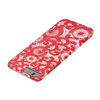 caja roja del iphone con clase funda para iPhone 6 barely there
