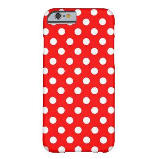 Caja roja y blanca retra del iPhone 6 de los Funda Para iPhone 6 Barely There