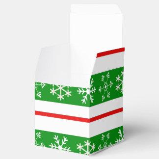 Caja roja y verde de la invitación del copo de