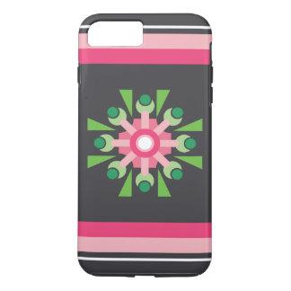 Caja rosada abstracta de la flor funda iPhone 7 plus