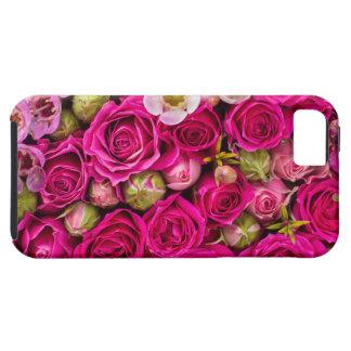 Caja rosada bonita del teléfono de la flor funda para iPhone SE/5/5s