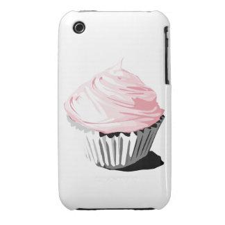 Caja rosada de la magdalena iphone3g iPhone 3 cárcasa