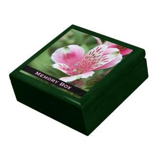 Caja rosada de la teja del Alstroemeria Joyeros