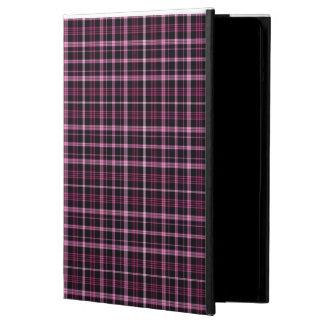 Caja rosada del aire de IPad de la tela escocesa Funda Para iPad Air