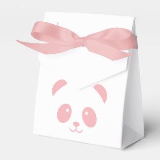 Caja rosada linda y mimosa del favor de la panda