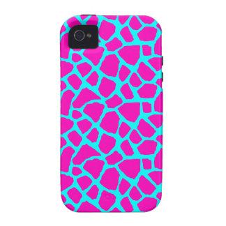 Caja rosada y azul descarada del iPhone del iPhone 4 Fundas