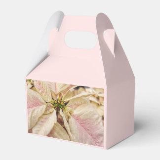 Caja rosada y blanca elegante del favor del