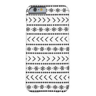 Caja rugosa del teléfono de la nieve funda barely there iPhone 6