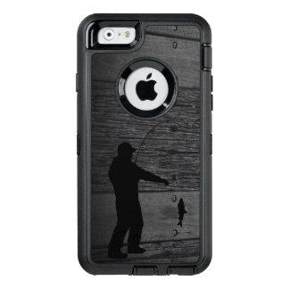 Caja rústica del teléfono de la pesca del hombre funda OtterBox defender para iPhone 6