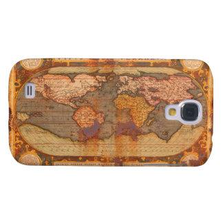 Caja rústica del teléfono del mapa de Viejo Mundo