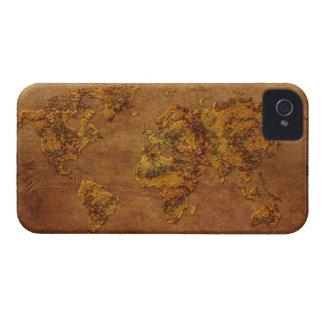 Caja rústica moderna de Blackberry del pergamino iPhone 4 Case-Mate Carcasas
