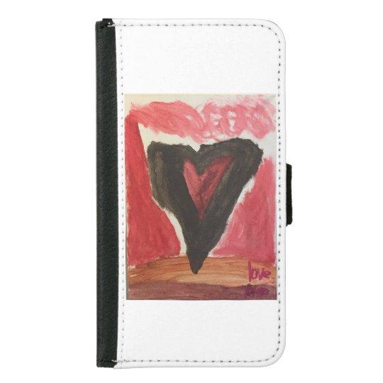 Caja Samsung 5 del teléfono del corazón Carteras