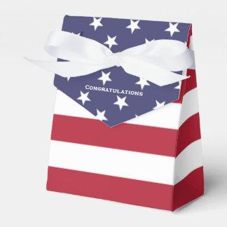 Caja secreta de la graduación de la bandera