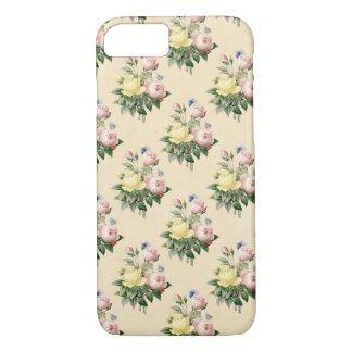 Caja subió vintage del teléfono de la flor del funda iPhone 7