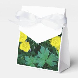 Caja temática del favor de la tienda del ranúnculo