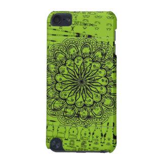Caja verde abstracta brillante carcasa para iPod touch 5