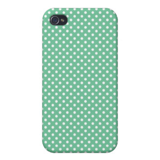 Caja verde de Iphone 4 del lunar de Peapod pequeña iPhone 4/4S Carcasas