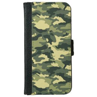 Caja verde de la cartera del iPhone 6 del