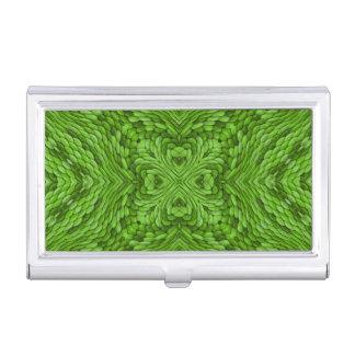Caja verde de la tarjeta de visita del vintage que