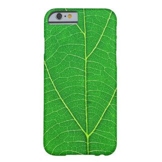 caja verde de la textura de la hoja del árbol de funda de iPhone 6 barely there