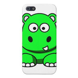 Caja verde del hipopótamo iPhone 5 cárcasa