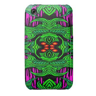 caja verde del iphone 3g/3gs del monstruo Case-Mate iPhone 3 fundas