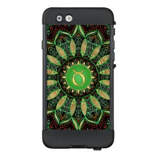 Caja verde del iPhone de la mandala del tauro de