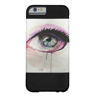 caja verde y púrpura del teléfono del ojo funda barely there iPhone 6