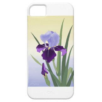 Caja violeta del teléfono de los iris funda para iPhone SE/5/5s