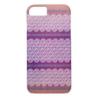Caja violeta texturizada colorida del modelo de funda iPhone 7
