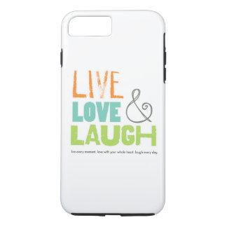 caja viva del teléfono de la risa del amor funda iPhone 7 plus