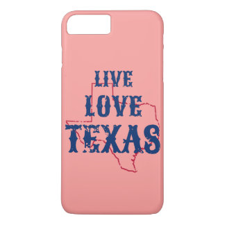 Caja viva del teléfono de Tejas del amor Funda iPhone 7 Plus
