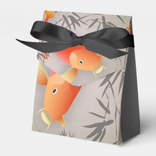 Cajas anaranjadas elegantes del favor de la tienda